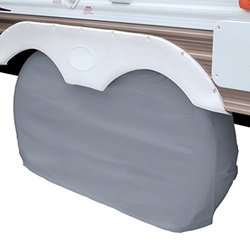 Classic Accessories OverDrive RV Dual Axle Wheel Cover, Grey, Large
