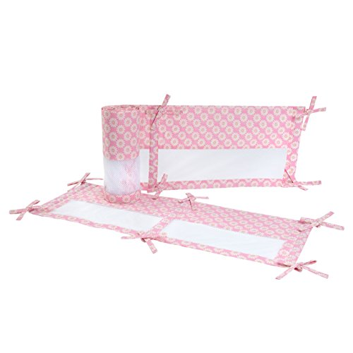 Carter's Jungle Collection Secure-Me Crib Liner, Pink (Bedding Sets Carters Baby)