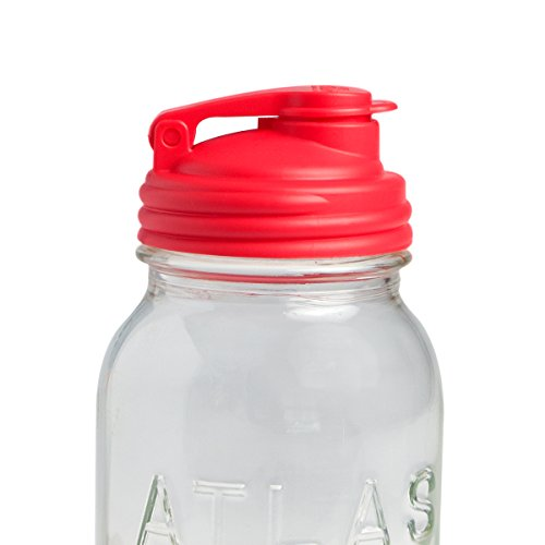 reCAP Mason Jars Lid POUR Cap, Regular Mouth, Red - BPA-Free, American Made Ball Mason Jar Lids for Preparing, Serving and Storage, Spill Proof and Made with Safe, No-Break Materials
