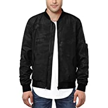 HEMOON Men's Casual Sportswear Lightweight Baseball Bomber Jacket