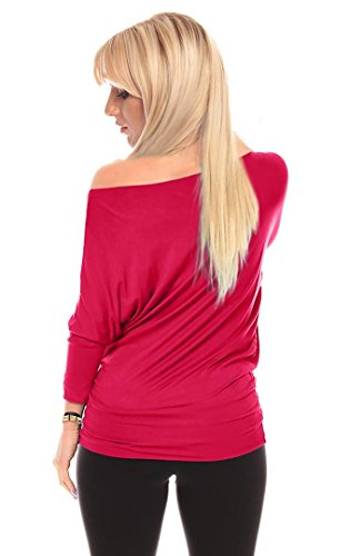 Dolman 3/4 Sleeve Off The Shoulder Drape Top with Banded Waist Made in USA