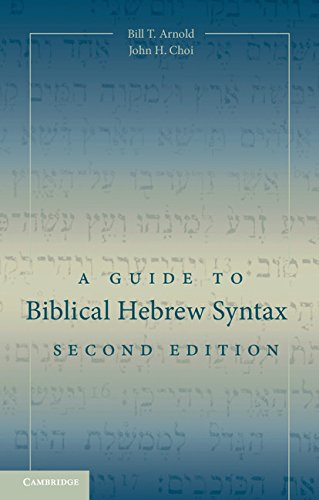 A Guide to Biblical Hebrew Syntax by Cambridge University Press