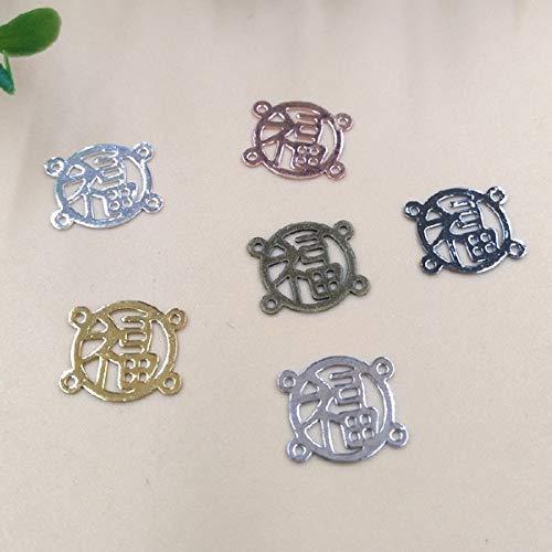 (Calvas 10mm Four Hole Flower Filigree Charms/Pendant Copper with Antique Bronze/Silver/Gold Handmade,Fallen Petal Parts Vintage Jewelry - (Item Diameter: Bronze 200pcs))