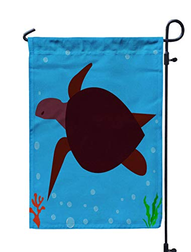 Shorping Welcome Garden Flag, 12x18Inch Sea Turtle Icon Logo Symbol for Holiday and Seasonal Double-Sided Printing Yards Flags (Restaurant With Red White And Green Flag Logo)