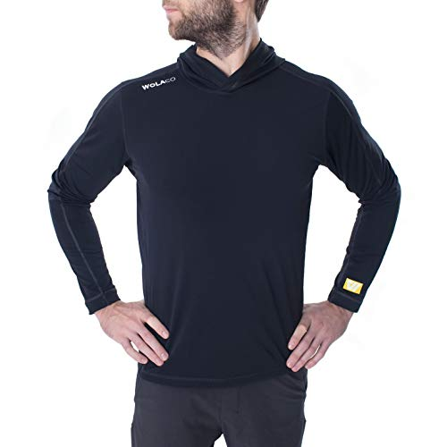 WOLACO High Line Hoodie - Water, Wind and Sweat Repellent Compression Workout Shirt - Made in America