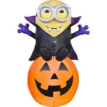 Amazon.com: Airblown Gone Batty Minion Halloween Decoration ...
