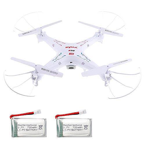 SYMA X5C-1 RC Quadcopter with Extra 2 720mAh Li-Po Batteries,4 Rotating Blade, 4-in-1 Battery Charger, 4G Micro SD Card