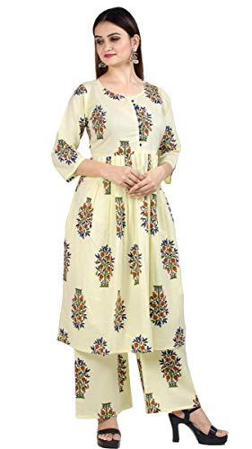 Chandrakala Kurti Palazzo Set for Women 100% Cotton Indian Kurta Set(K137)
