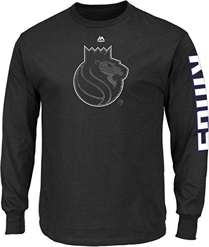 NBA Sacramento Kings Men's Easy Choice Long Sleeve Basic Tee, X-Large, Black - Sacramento Kings Jersey