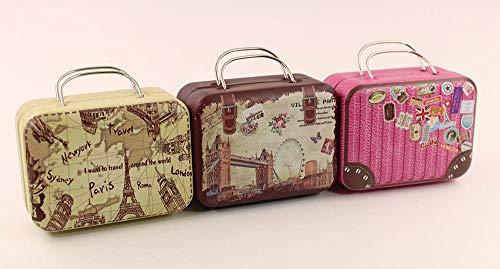 nanguawu 3PCS Trunk Box Suitcase Luggage Traveling Case 1:6 Doll Toy