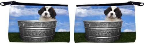 Rikki Knight Adorable Saint Bernard Puppies Design Scuba Foam Coin Purse