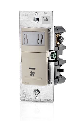 - Leviton IPHS5-1LT Decora In-Wall Humidity Sensor & Fan Control , 3A, Single Pole, Light Almond