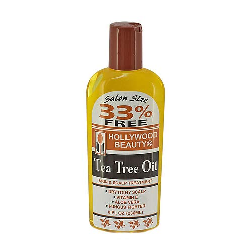 Hollywood Beauty tea tree oil skin & scalp treatment 8 fluid ounce, Yellow, 8 Fl Oz