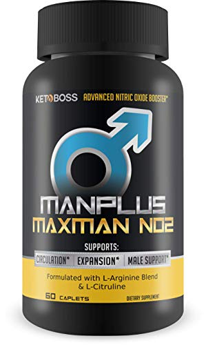 ManPlus MaxMan N02 - L-Citruline Male Support Formula - Enhanced Male Function - Powerful Muscle Pumps - Increased Blood Flow - Powerful Gym time and Powerful Bed time - Take it to The Next Level
