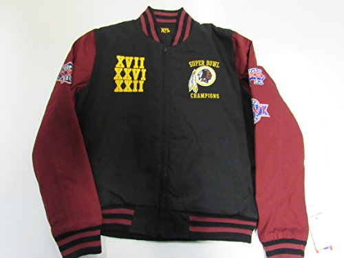 G-III Sports Washington Redskins Womens Large Reversible 3 Time Superbowl Champions Jacket ARDK 111 L