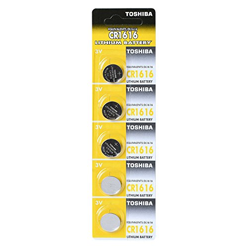 TOSHIBA CR1616 3V Lithium Battery 1PACK (5PC) Batteries Made in Japan (Pack Toshiba)