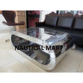 Aviator Coffee Table Black Hawk Aluminum Furniture