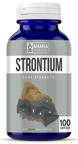 Strontium Citrate 340mg - #1 Recommended Healthy Bone Supplement (100 Easy to Swallow Capsules)