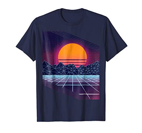 (Retro 80s Vaporwave Outrun style T-Shirt)