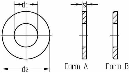 Reidl Scheiben 3,2 mm DIN 125 Stahl galvanisch verzinkt 10 St/ück