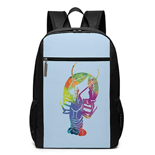 Beer Drinking Lobster Funny Craft Laptop Computer Backpack Business Stylish Casual Travel Bags 17 Inch