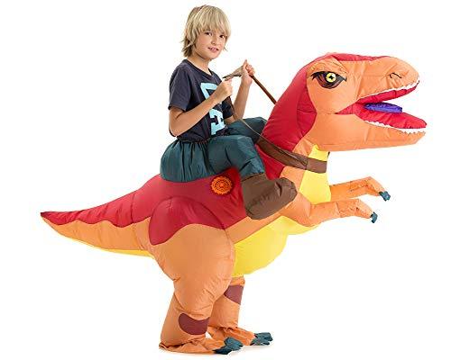Dinosaur Costume For Girls (Hsctek Inflatable T-ex Costume Kids, Halloween Inflatable Dinosaur Costume for Kids, Blow Up Dinosaur Costume for Girls)