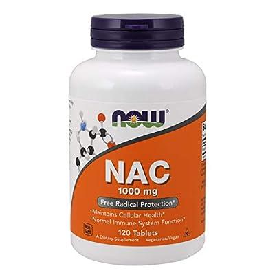 NAC (N-Acetyl Cysteine) 1,000 mg Now Foods 120 Tabs