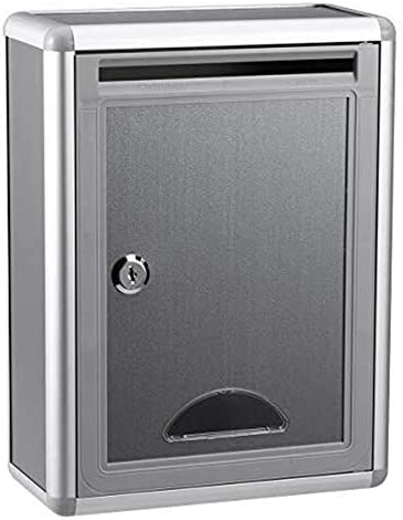 Small Suggestion Box Mailbox With Lock Wall Hanging Storage Box Aluminium Alloy