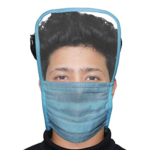 AllExtreme ORMFS10 Disposable 3 Ply Face Mask with Eye Shield Anti Spittle Splash Personal Protection for Medical & Outdoor (10 PCS)