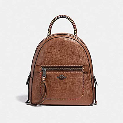 Amazon.com  COACH ANDI Backpack with Rainbow Stitching, F31368, Saddle  Multi  Computers   Accessories 767c01d23d