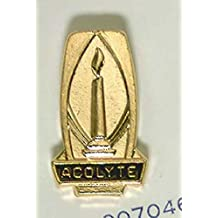 PIN ACOLYTE GOLD LIGHTED CANDLE