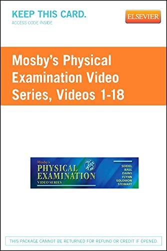 Mosby's Physical Examination Video Series (Access Code): Online Version, Videos 1-18