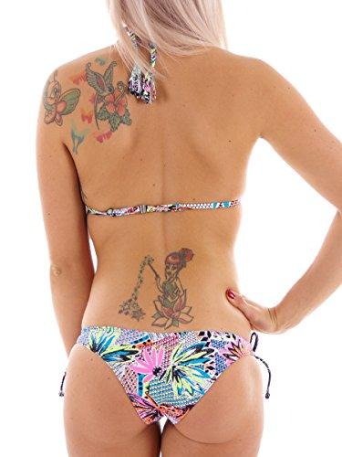 Brunotti Bikini Zweiteiler Bademode rosa Muster Sabeh Slider Triangel Gr. 38B 161220742B
