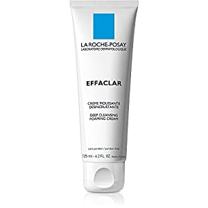 La Roche-Posay Effaclar Deep Cleansing Foaming Cream Face Wash Daily Cleanser for Oily Skin, 4.2 Fl. Oz.