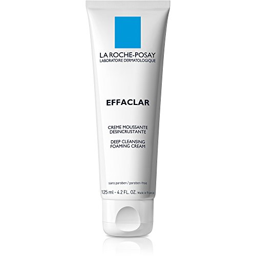 La Roche-Posay Effaclar Deep Cleansing Foaming Cream Cleanser, 4.2 Fl. - Cleansing Daily Cream