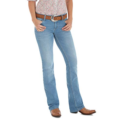 Wrangler Women's Retro Sadie Low Rise Stretch Boot Cut Jean, Concord, 15W x 32L]()