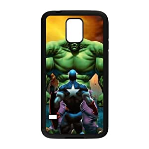 Samsung Galaxy S5 Cell Phone Case Black_Captain America VS The Hulk Djgik