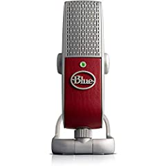 Features:Color: RaspberryUltimate mobile USB microphone for podcasting, voice-over, streaming, Skype and music applicationsPatented Blue premium capsule circuitry for detailed, studio-quality soundPatent-pending Internal Acoustic Diffuser (IA...