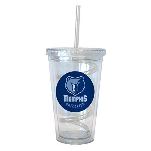 Grizzlies 16 Ounce Tumbler (NBA Memphis Grizzlies Swirl Straw Tumbler, 16-ounce)
