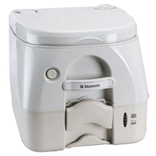 Dometic - 974MSD Portable Toilet 2.6 Gallon - Tan w/Brackets consumer electronics (974msd Portable Toilet)