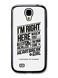 AMAF ? Accessories 5 Seconds of Summer Luke Hemmings Heartbreak Girl Lyrics case for Samsung Galaxy S4
