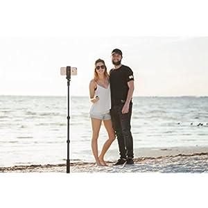 NEW HD Flexible Tripod & Selfie Stick 4-in-1 Bundle w/ Bluetooth Remote – Best Universal Creator Vlog Kit for Any Phone, GoPro or Camera: iPhone X 8 7 6 Plus, Samsung S8, Hero 5, Powershot etc.