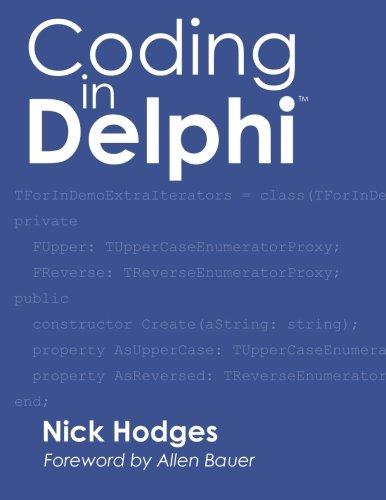 Coding in Delphi by Nepeta Enterprises