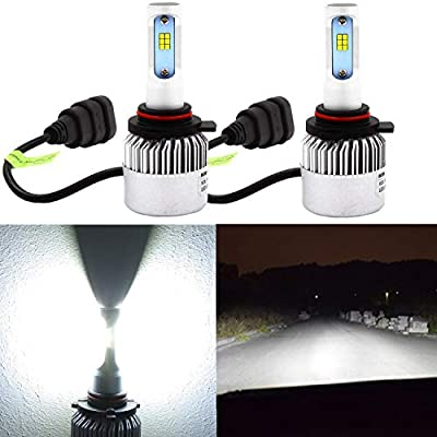 Alla Lighting HB4 9006 LED Headlight Bulbs 8000lm Xtreme Super Bright 6500K Xenon White High Power Mini LED 9006 Headlight Bulb Low Beam Headlamp Conversion Kits Lamps Replacement: Automotive