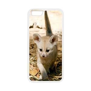 Jumphigh Cute Fennec Fox iPhone 6 Cases Little Cute Fennec Fox Kit For Guys, Iphone 6 Case For Men, [White]