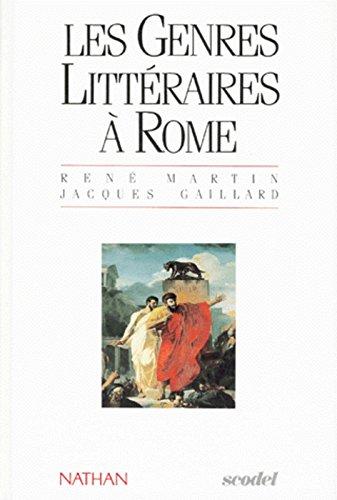 GENRES LITTERAIRE A ROME Relié – 10 mai 1991 JACQUES GAILLARD Nathan 209175191X TL209175191X