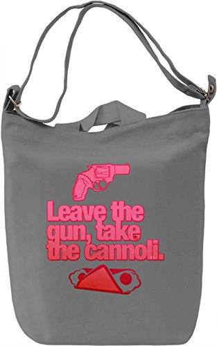Leave The Gun Take The Cannoli Borsa Giornaliera Canvas Canvas Day Bag| 100% Premium Cotton Canvas| DTG Printing|