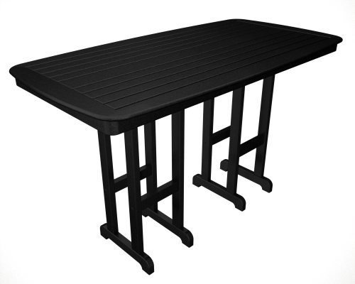 (Polywood Nautical 37 x 72 Inch Bar Height Table in Slate Grey)