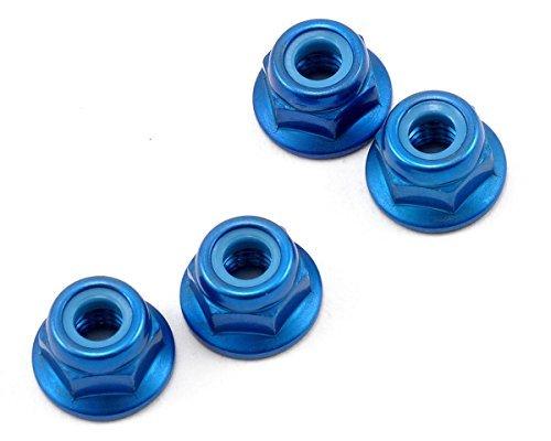 Kyosho 4x4.5mm Aluminum Flanged Locknut (Blue) (4) by Kyosho