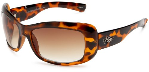 S4 Women's Samantha 793S4 Resin Sunglasses,Demi Brown Frame/Brown Lens,one - Sunglasses S4